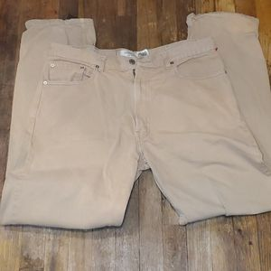 Men's levis tan jeans relaxed fit 550 38 x 34